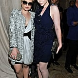 Kelly Osbourne and Michelle Trachtenberg at the Marchesa show.