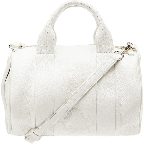 Get your hands on Alexander Wang's cool-girl Rocco bag ($930) — this time in an ultrachic, clean white finish.