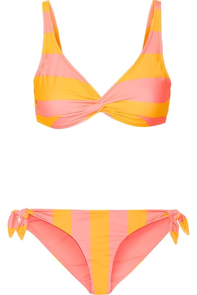 This Solid & Striped The Jane Triangle Bikini ($88) features a ruching detail in the front.