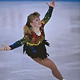 Harding figure skating at the 1991 World Championships.