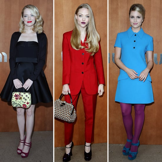 Emma and Amanda Unite For a Star-Studded Miu Miu Show