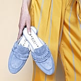 Madame Ruffle in Light Denim Blue