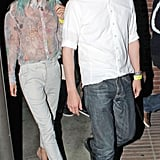Kate Bosworth exited the venue with a friend.