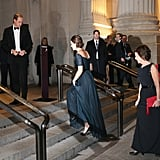 All Eyes Were on Kate as William Waited For Her at the Top of the Stairs