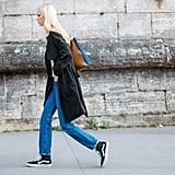 Full-Length Jeans + High Tops