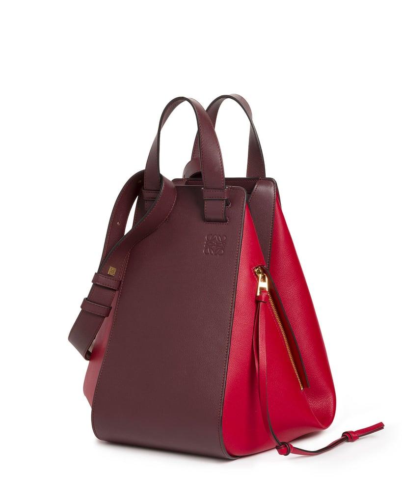 Loewe Two-Tone Leather Hammock Bag