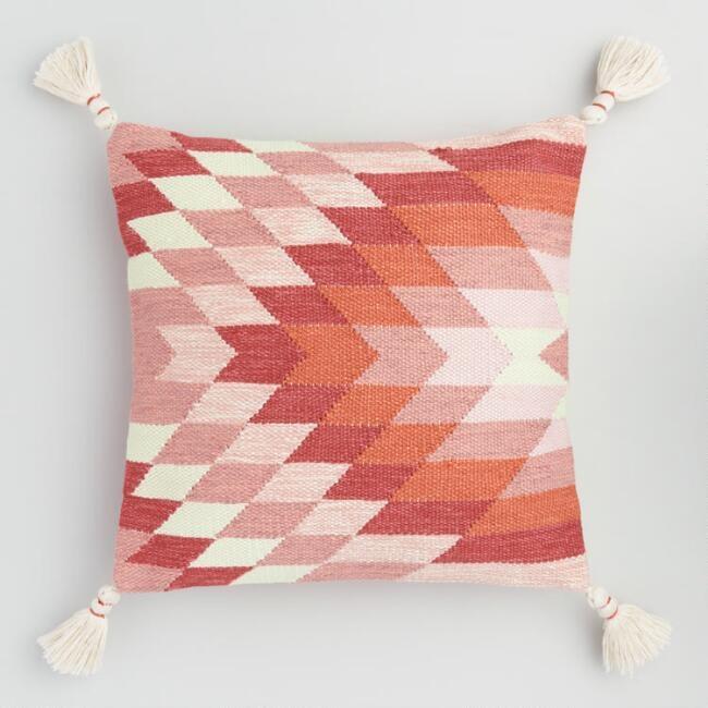 Warm Woven Kalahari Indoor Outdoor Throw Pillow