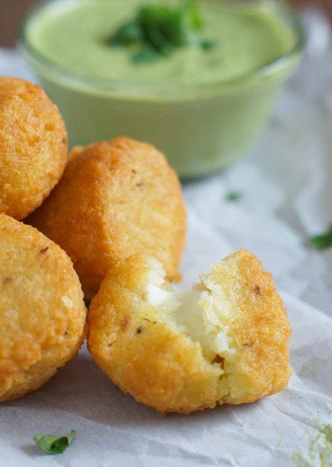 Cheese-Stuffed Yuca Balls