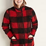 Old Navy Plaid Sherpa Coat