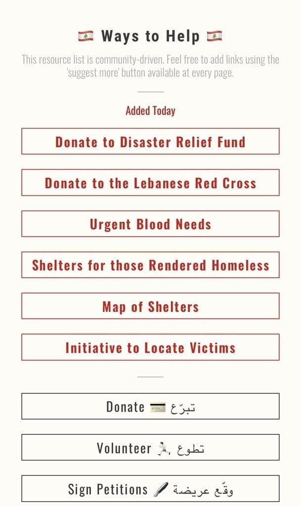 بطاقة مساعدة لبنان