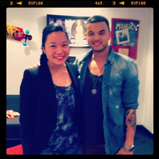 Jess caught up with Guy Sebastian, and he showed her uber-cute pics of his son Hudson on his phone.