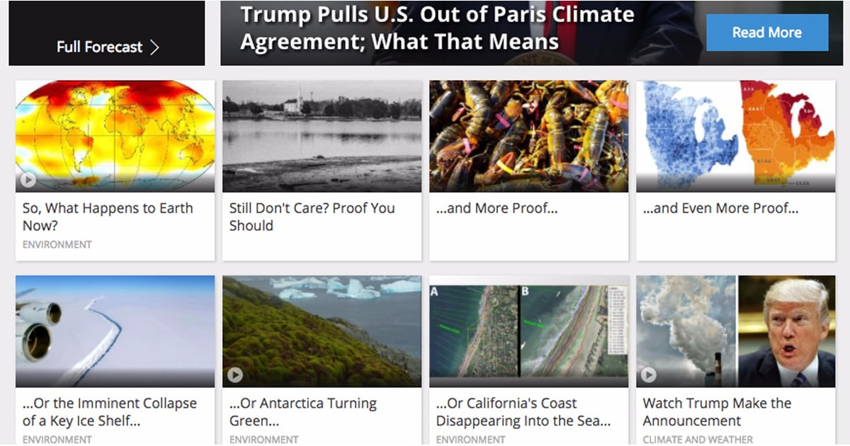 The Weather Channel on Trump's Climate Accord Decision | POPSUGAR News
