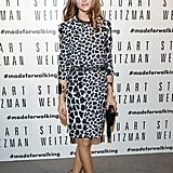 A spotted Olivia Palermo joined Stuart Weitzman's celebration of their Milan flagship store opening.
