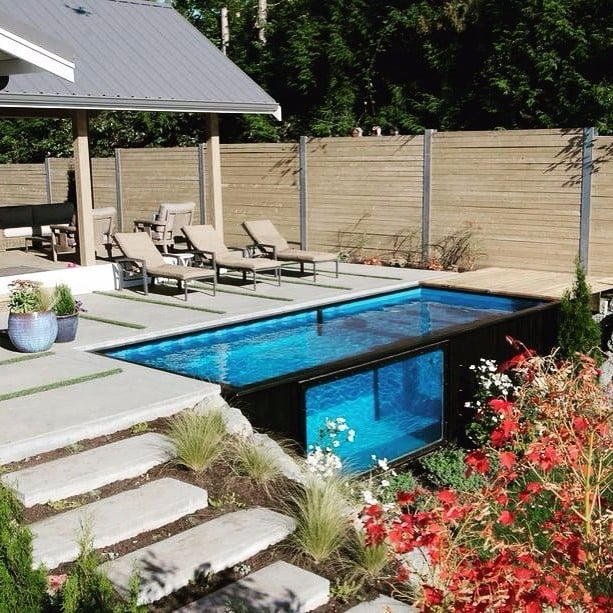 Pools For Small Yards | POPSUGAR Home on natural pools in small back yard, small swimming pool designs for small yard, pools for your back yard, cool pools waterfall back yard, kidney-shaped pools small yard, natural swimming pool back yard, pools for small spaces back yard,