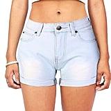 VEAWLL Women's Juniors Summer Mid-Rise Denim Shorts