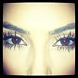 Kim Kardashian took a close-up shot of her eyelashes.  Source: Instagram user kimkardashian