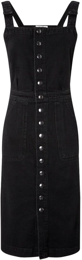 MiH Jeans Black Denim Eastman Pinafore Dress ($340)