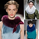 If there's one thing we've learned so far, it's that fur snoods will be all the rage next Fall.