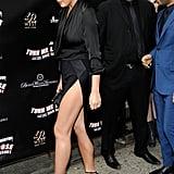 Chrissy Teigen's Black Wrap Dress May 2016
