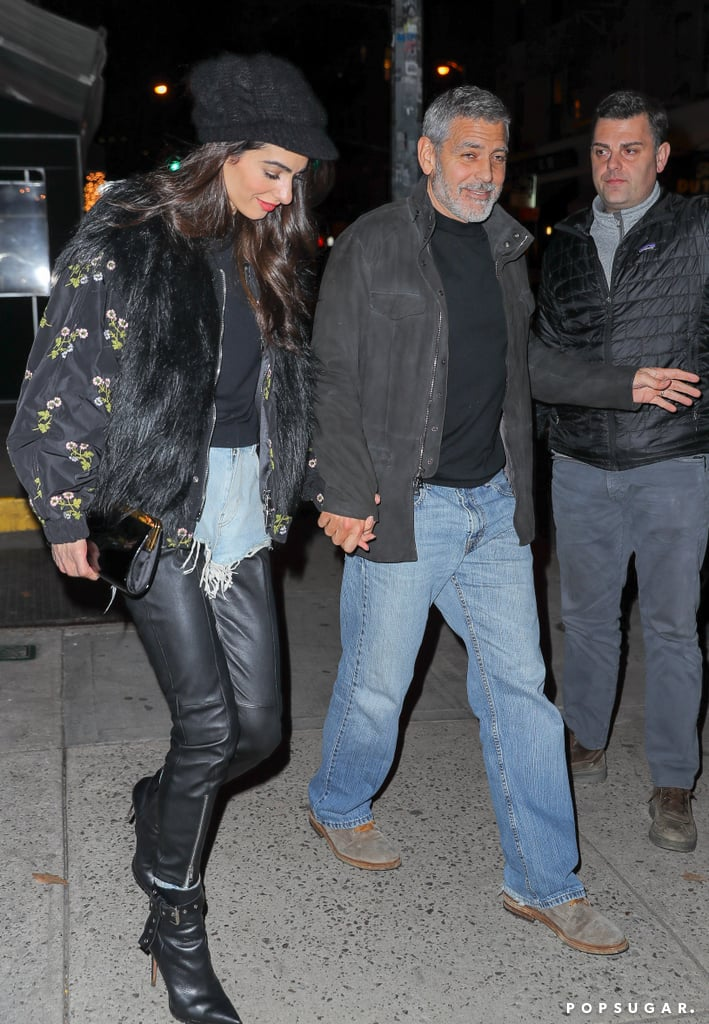 George and Amal out and about in NYC heading to Raoul's restaurant Thursday George-Amal-Clooney-Holding-Hands-NYC-April-2018