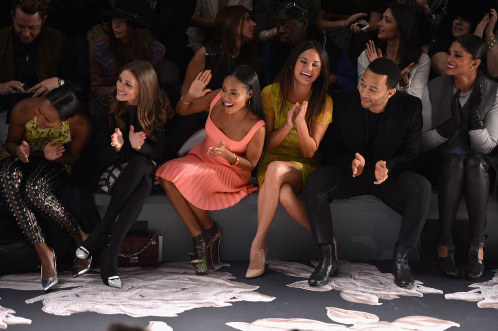 Olivia Palermo, Jada Pinkett Smith, Chrissy Teigen, John Legend, and Rachel Roy all sat in the front row during the Vera Wang show in NYC on Tuesday.