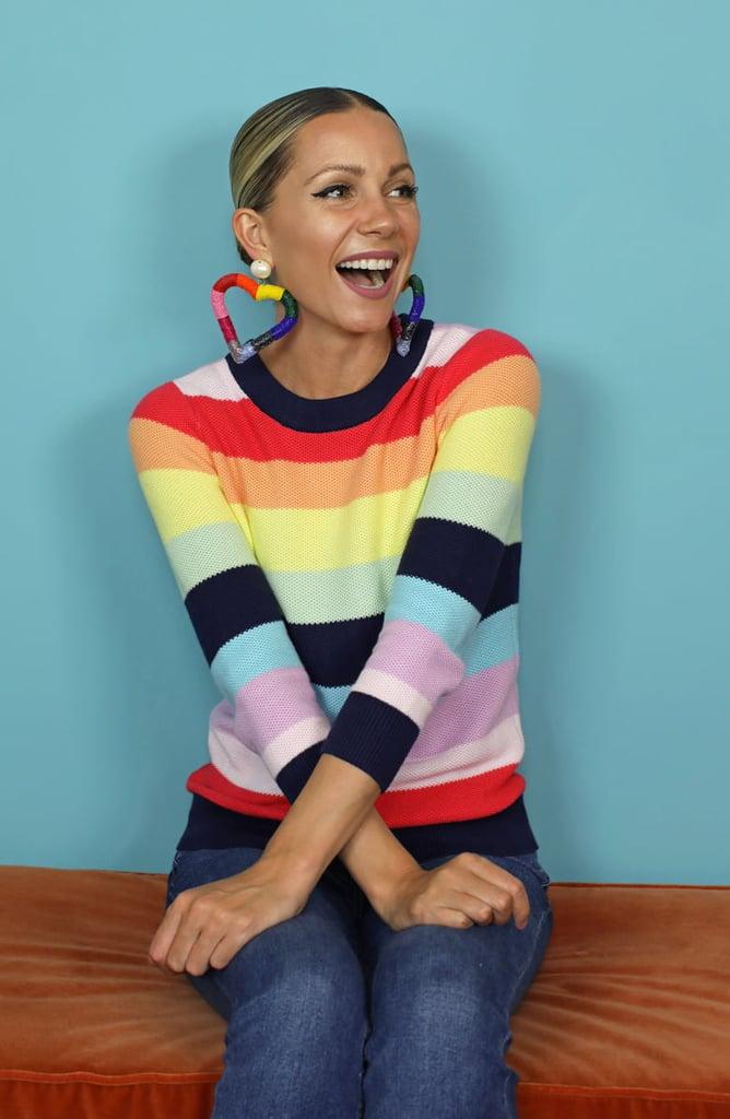 Halogen® x Atlantic-Pacific Three Quarter Sleeve Sweater