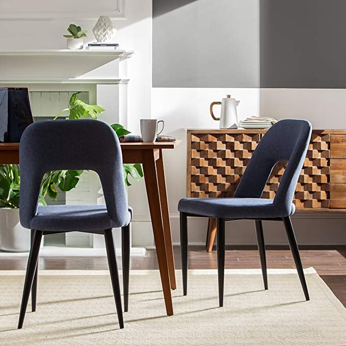 Affordable Chairs: Rivet Florence Mid-Century Wide Open-Back Accent Dining