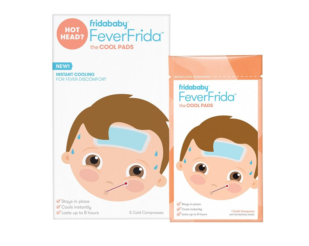 """Once you've identified that your child has a fever — either with the use of a thermometer or these handy fever stickers — the aim of the game is to turn down the heat. Of course there's the option of medication, but if you're looking for another option — or something you can use safely on top of meds — Fridababy has your back with its Cool Pads ($7 for a pack of five), adhesive gel patches that can be applied right to your child's forehead — or anywhere else on their body (like the back of their neck), as long as they're applied externally and not blocking the child's airways. The disposable patches, which don't have to be refrigerated to cool your kid down (but can be for an extra boost of cold), claim to provide """"immediate cooling relief"""" and last for up to eight hours. They're safe to use with oral medications, but should be used under parent supervision. Cold and flu season may have just gotten a bit less complicated! Learn more and shop the Cool Pads ahead.      Related:                                                                                                           Take Deep Breaths — These Bath Bombs Were Made With Sick Kids in Mind"""