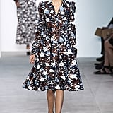 She'd look lovely in a floral-printed coat dress, updated with a thick belt and strong shoulders for the season.  Michael Kors Spring 2017