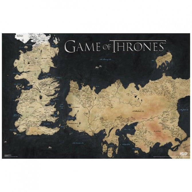 Westeros-Essos Map Poster