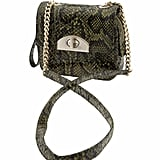 We love the exotic green reptilian print.  Banana Republic Madison Cross Body bag ($60)