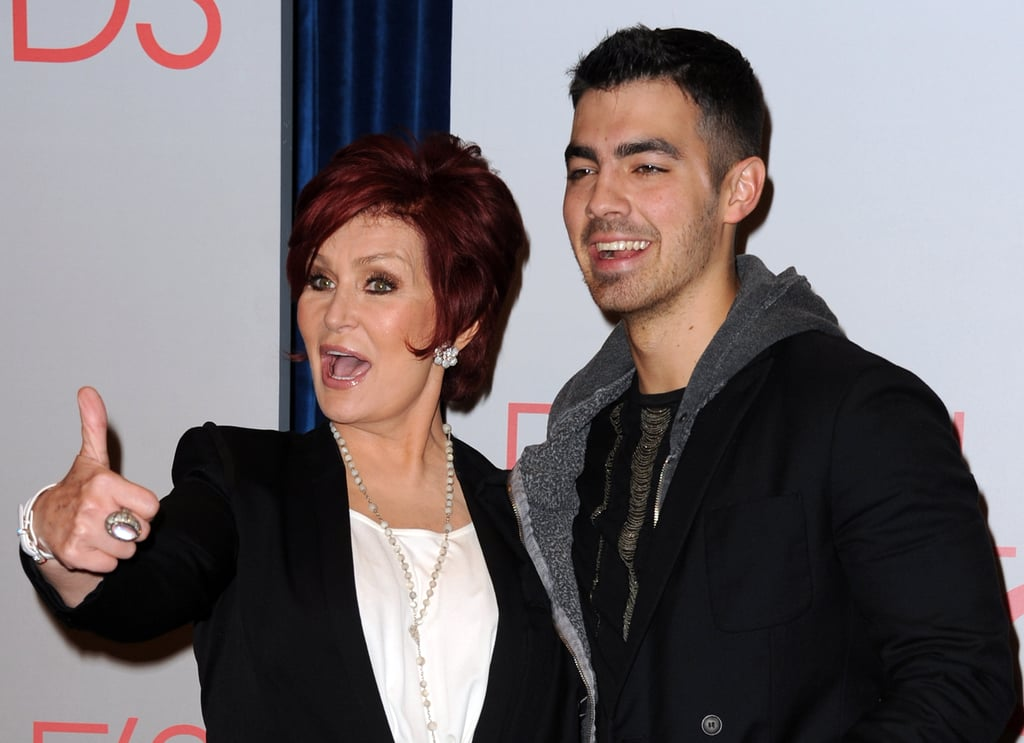 Sharon Osbourne and Joe Jonas at the People's Choice Awards nominations.