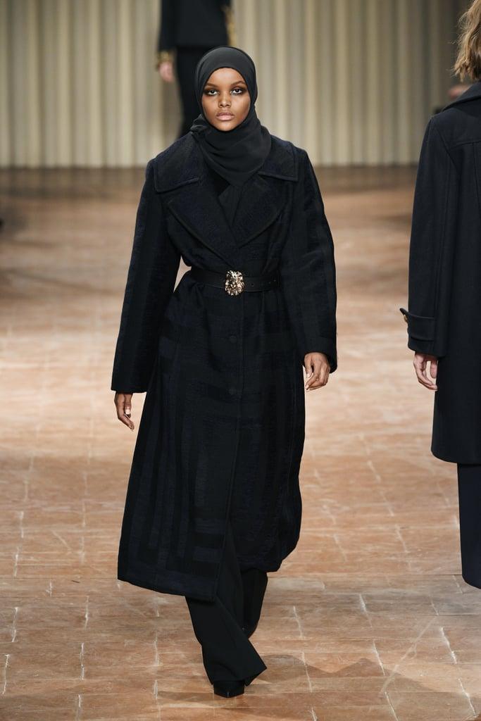 Walking the runway for Alberta Ferretti during Milan Fashion Week in 2017.