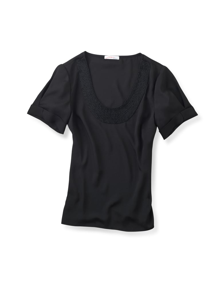 Love ADAM Short Sleeve Shirt w/Bugle Bead Neckline, $119.90
