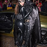 Kim Kardashian and Kanye West as Catwoman and Batman