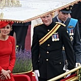 Kate and Harry looked up at the crowds.