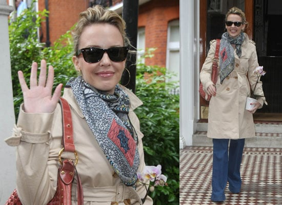 Photos Of Kylie Minogue At Her London Home