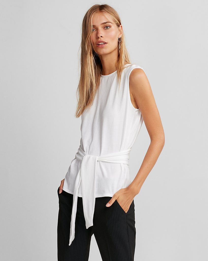 Express Tie-Front Cotton Tank