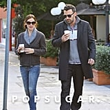 Ben Affleck and Jennifer Garner strolled together.