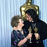 Brenda Fricker and Daniel Day-Lewis, 1990
