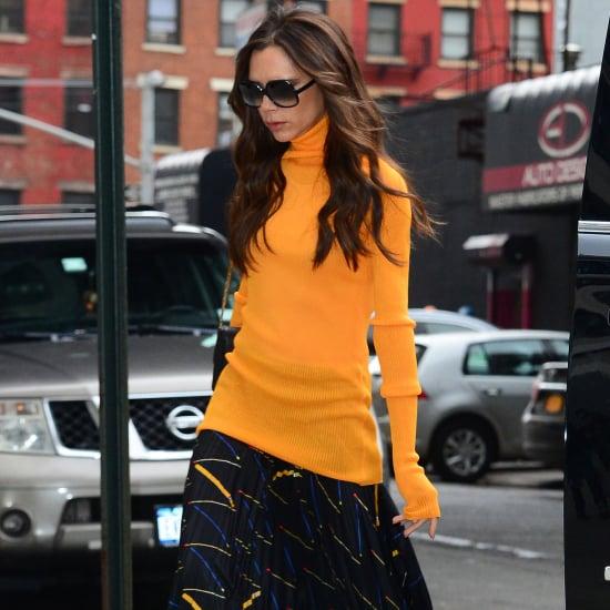 Victoria Beckham Wearing a Turtleneck February 2016