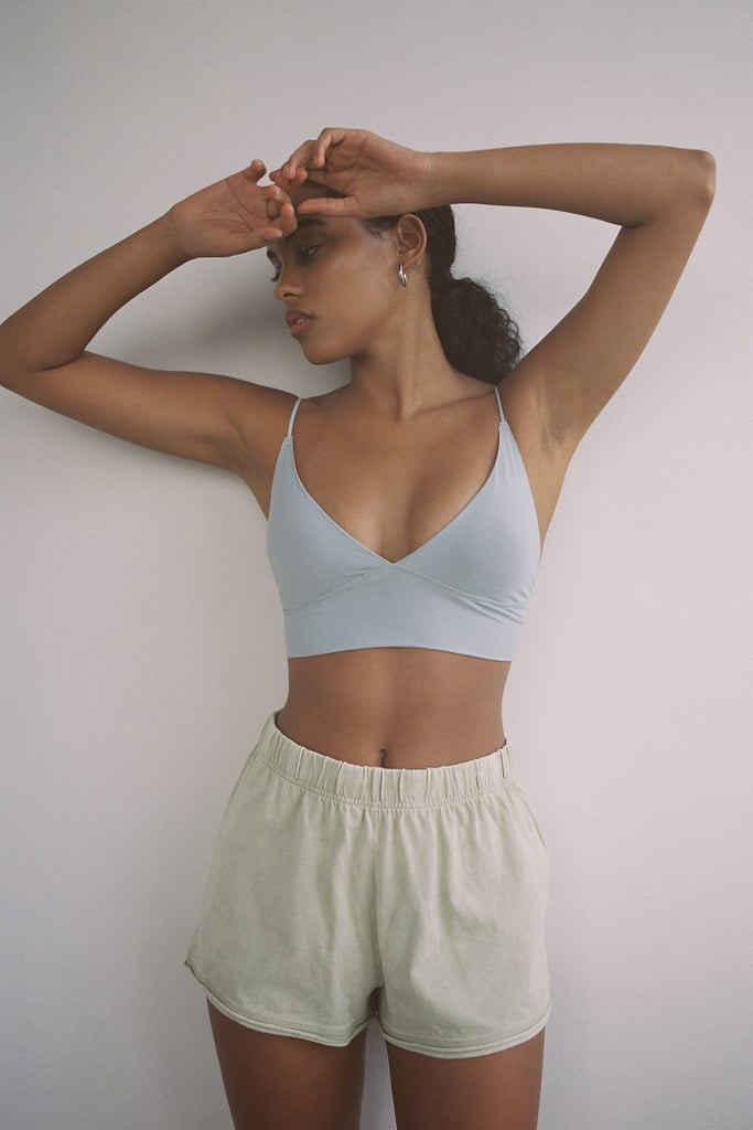 Out From Under So Smooth Micro Fusion V-Neck Bra Top