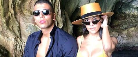Kourtney Kardashian Orange Bikini in Italy June 2018
