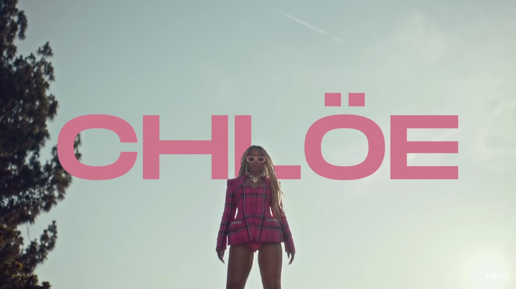 """Chloe Bailey's Pink Plaid Area Blazer in """"Have Mercy"""" Video"""