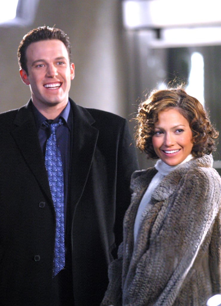 The two were all smiles on the set of their film Jersey Girl in November 2002.