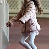 Suri Cruise was out in NYC.
