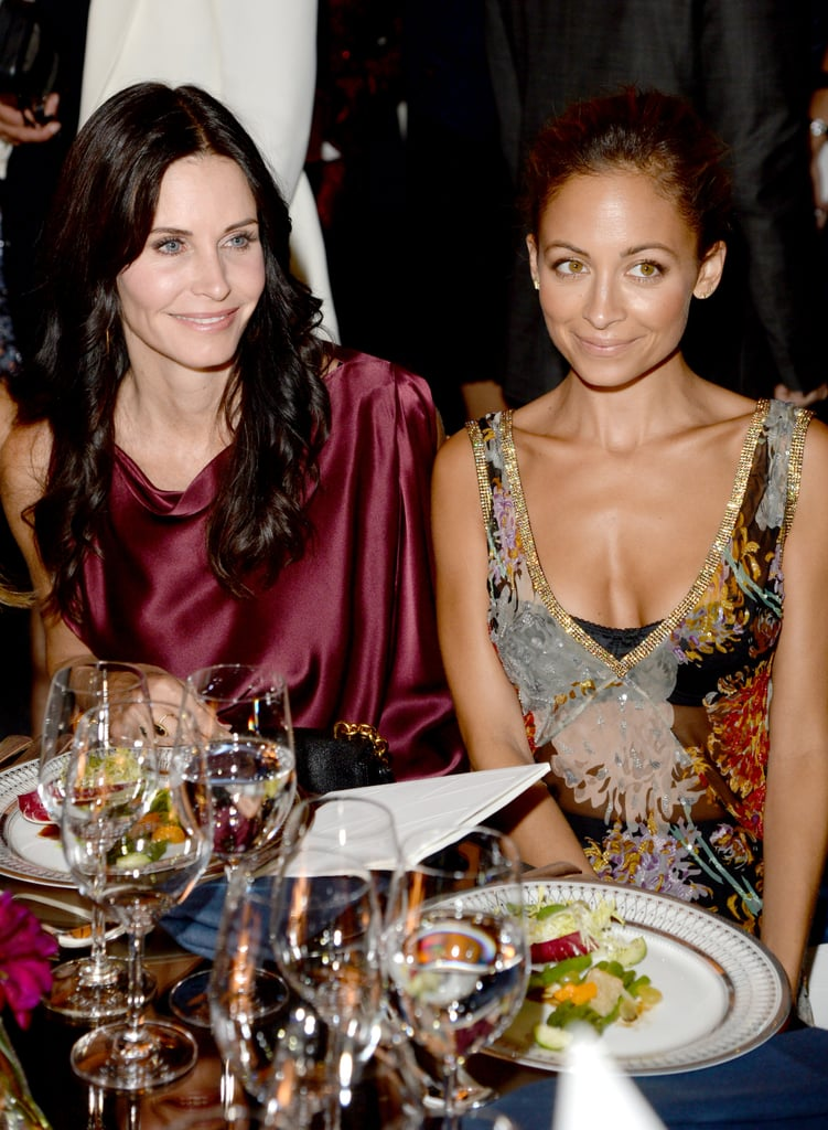 Courteney Cox and Nicole Richie mingled as they enjoyed dinner during the Annenberg Gala.