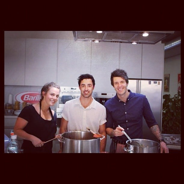 MasterChef's Kylie Millar, Andy Allen and Ben Milbourne prepped for their pop-up restaurants in Sydney. Source: Instagram user andy44