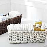 These baskets ($19) are a cute way to bring style and function to your changing table.