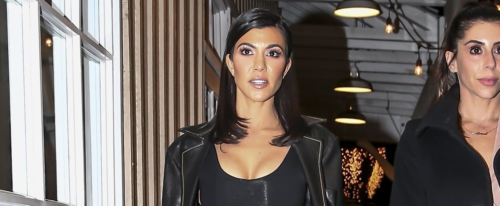 "Kourtney Kardashian's Supersheer Skirt Will Have You Saying, ""Oh My, Oh My"" on Repeat"